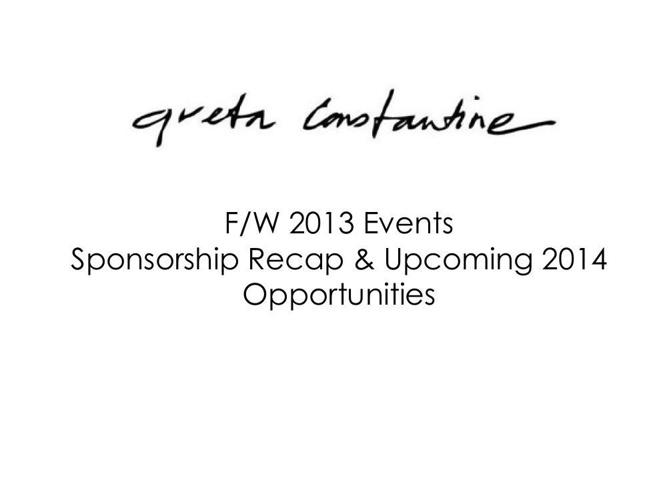 2014 sponsorship - greta Constantine