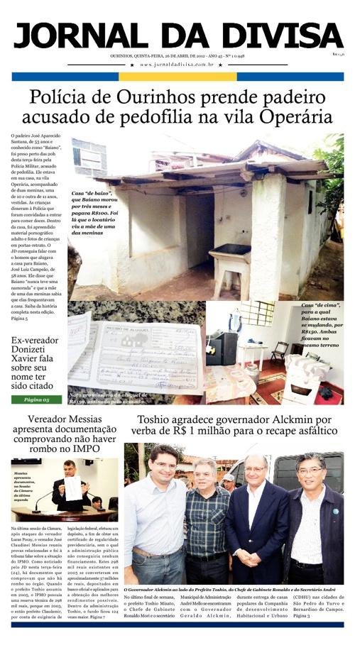 JORNAL DA DIVISA - Edição de 26 de Abril de 2012.