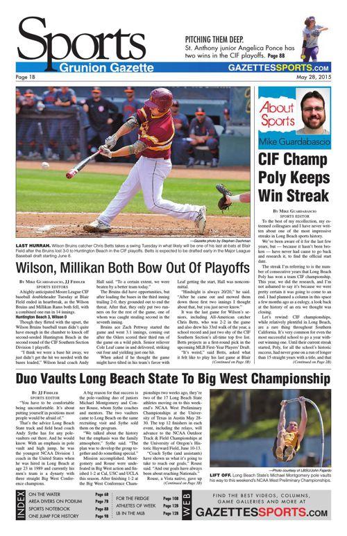 Gazette Sports | May 28, 2015