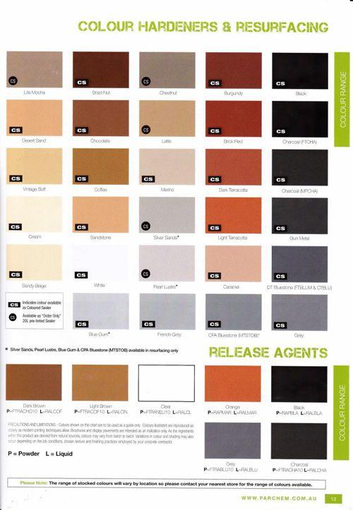 Spray Colours - Dawson's Concreting