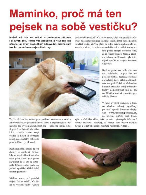 Pomocné tlapky - Co lidé nerozdýchají psi udělají s láskou
