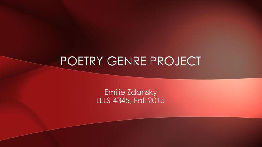 Poetry Genre Project