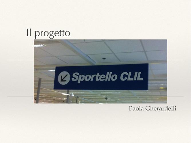 Presentazione Sportello CLIL