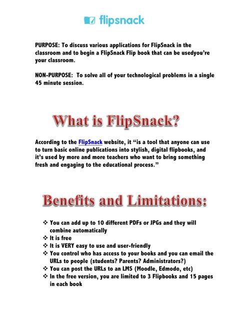 FlipSnack Training