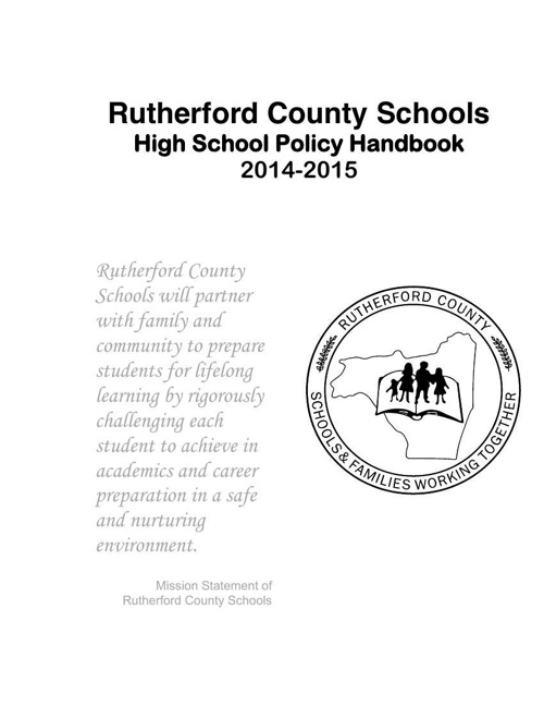 Student Handbook High School 2014-2015