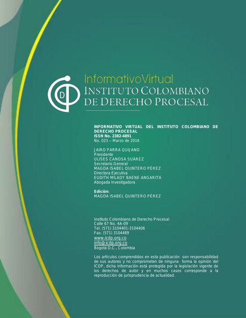 Informativo No. 23