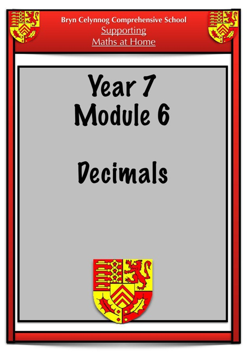 Year 7 Module 6 Booklet