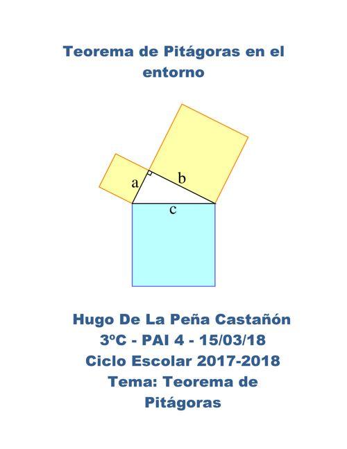 Teorema de Pitágoras en el entorno
