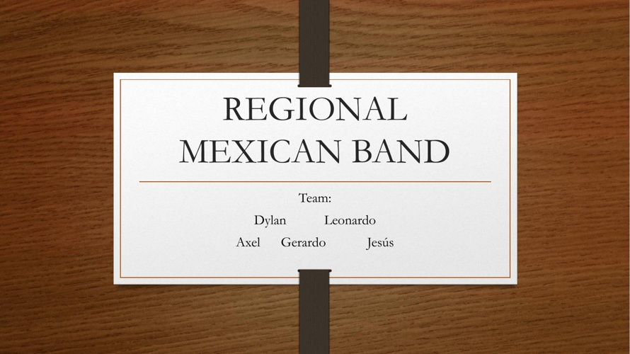Reguional Mexican Band