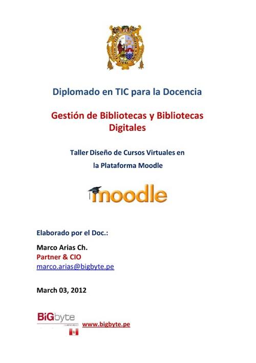 Semana 02: Instalación Moodle [2012_03]