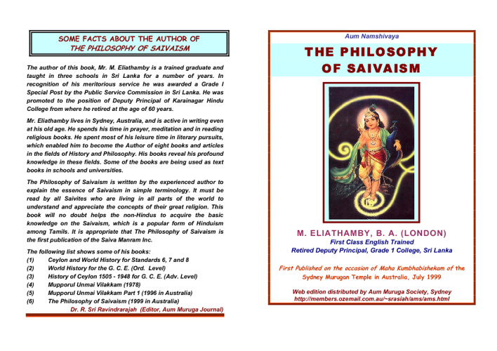 The Philosophy of Shaivism pdf