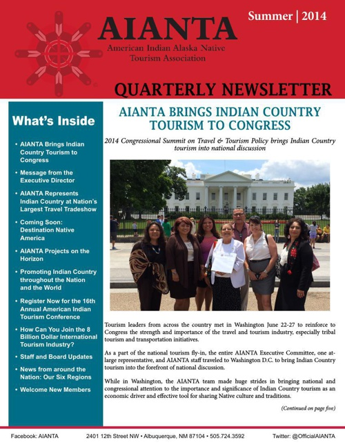 AIANTA 2014 Summer Newsletter