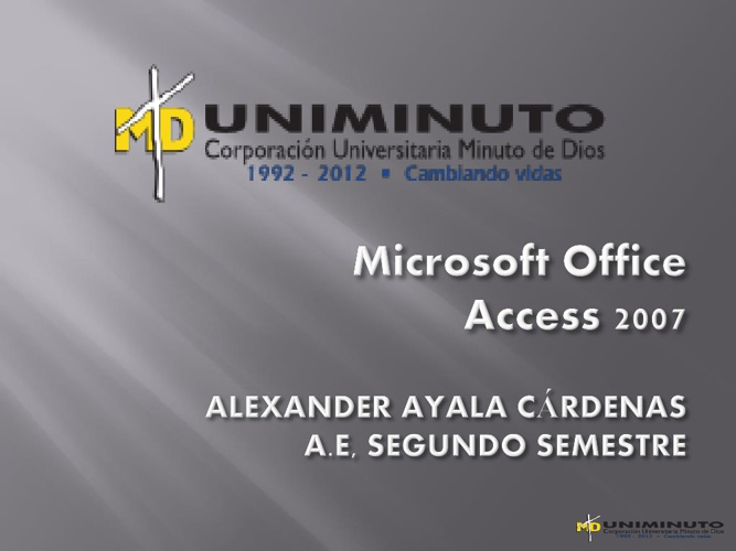 Microsoft Acces 2007
