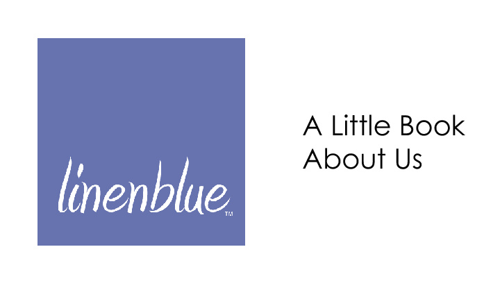 A Little Flipping Book About Linenblue