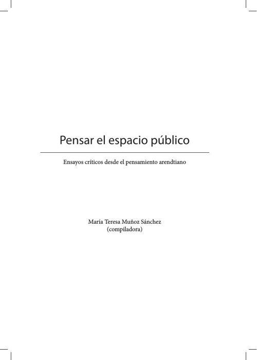 Pensar el espacio publico