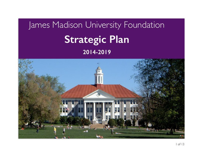 JMU Foundation Strategic Goals and Objectives Color copy