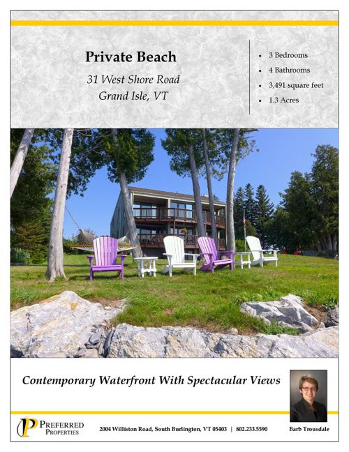 Property Information Brochure - West Shore Grand Isle
