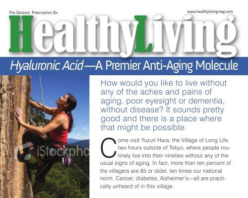 Hyaluronic Acid--A Premiere Anti-Aging Molecule