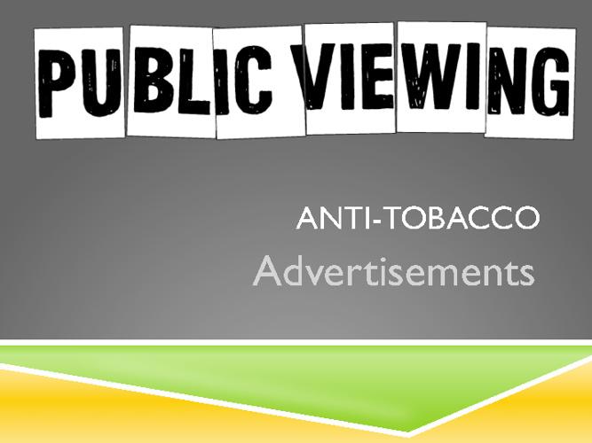 8.ATOD.1.2 anti tobacco ads