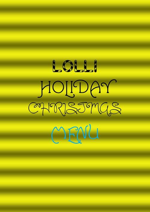 Lolli Holiday Christmas Menu