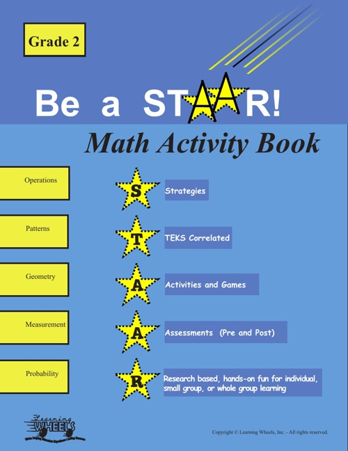 2nd Grade STAARS Math Activity Book