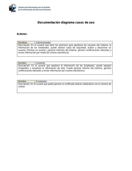 Documentacion Casos de Uso