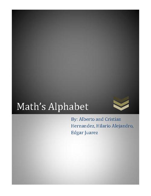 Math's alphabet