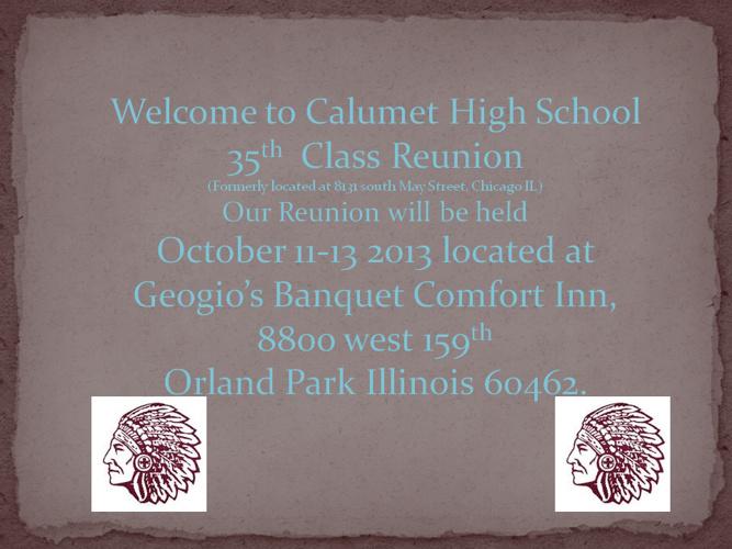 Calumet High School Class 35th Reunion