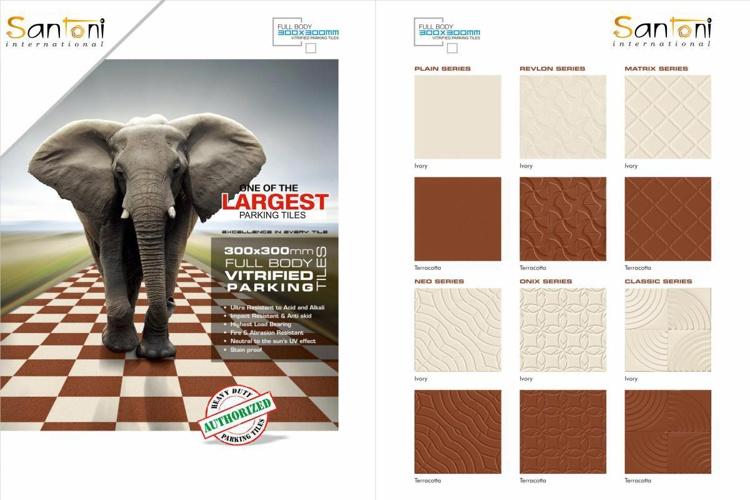 Santoni International - Parking Tiles Full Body - GVT 300x300mm