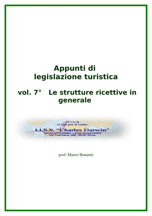 Le strutture ricettive in generale
