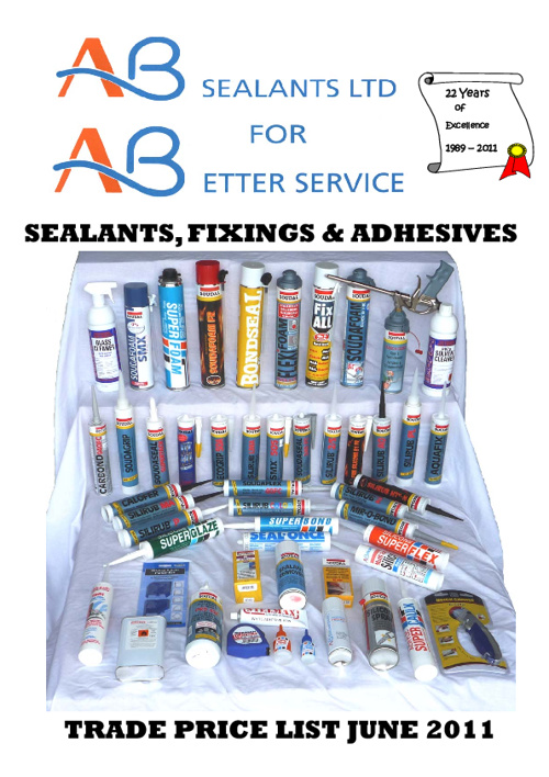 Sealants Price List 2012