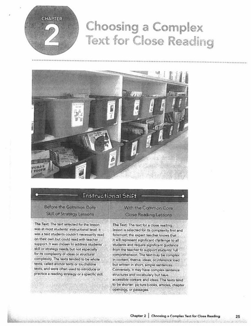 Choosing a Complex Text for Close Reading