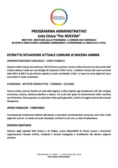 "Lista Civica ""Per NOCERA"""