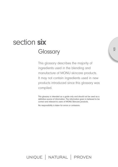 Monu therapist manual - section 6 - glossary
