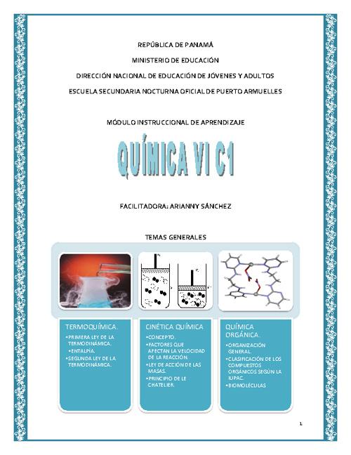 Módulo de química VI C 1