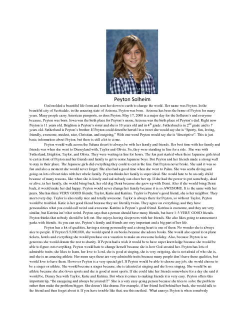 Peyton's Biography