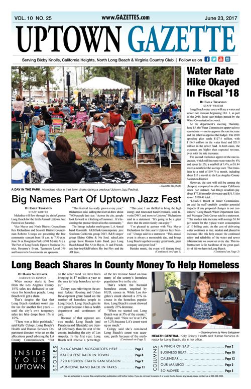 Uptown Gazette  |  June 23, 2017
