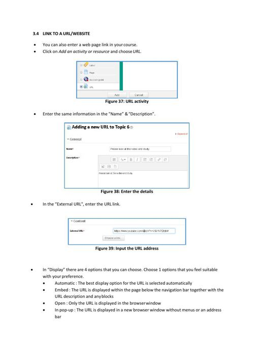 How to create or post a link of subject materials - Lecturer