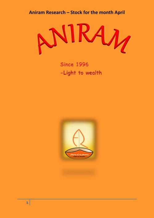 Aniram's Stock Recommondation of the month -PNB