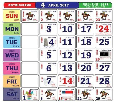 kalender kuda 2017