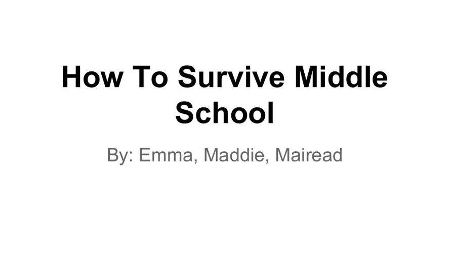 How to Survive Middle School Book (1)