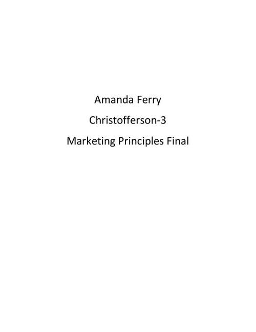 Amanda Ferry Career Portfolio