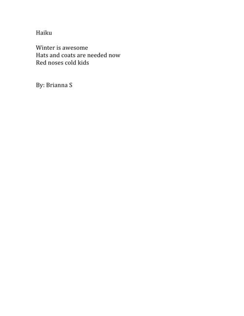 Brianna S.'s Poetry