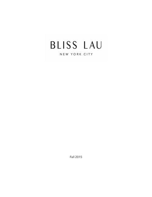 Bliss Lau Fall 2015