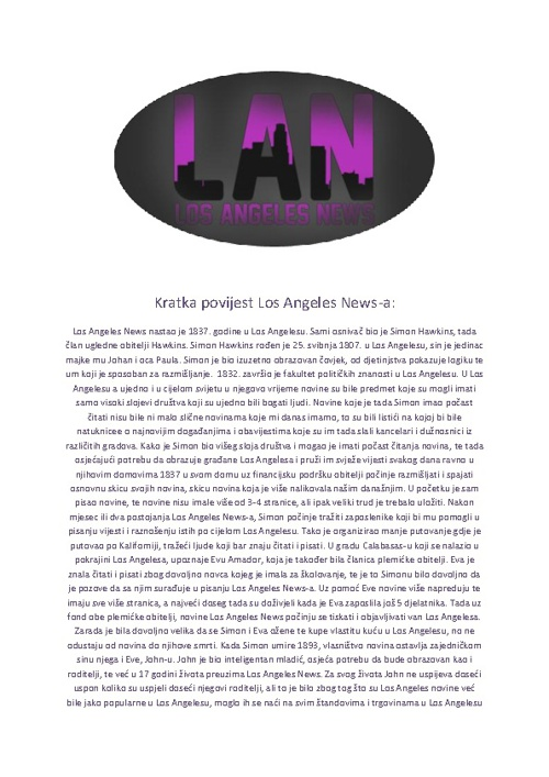 Los Angeles Novine #1