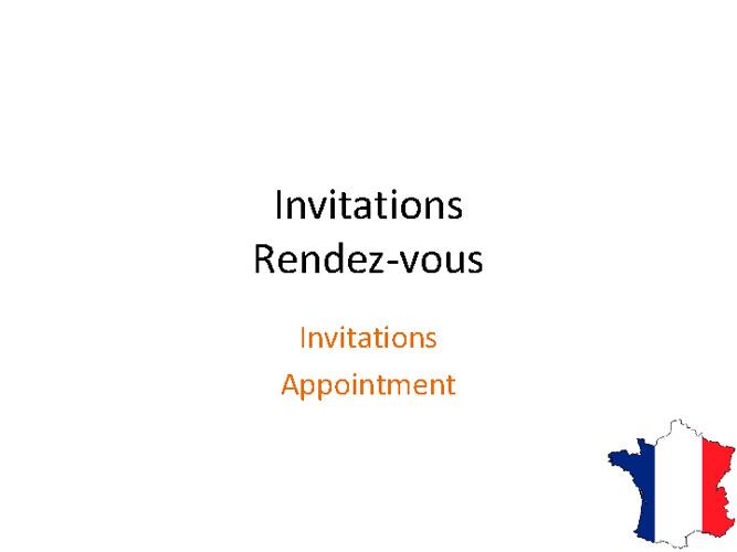Invitations - Rendez-vous