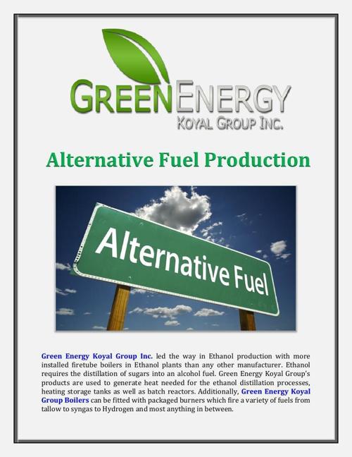 Green Energy Koyal Group Inc: Alternative Fuel Production