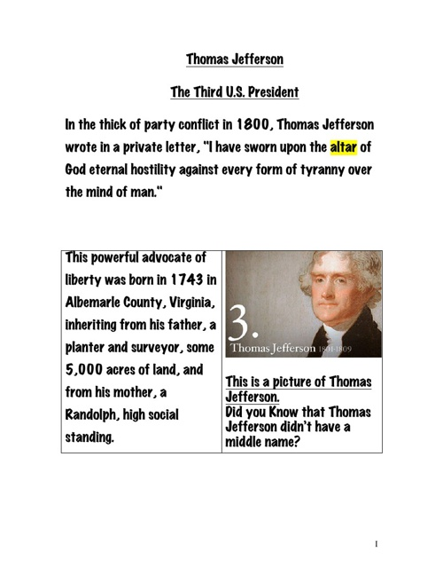 an analysis of thomas jefferson in the thick of party conflict in 1800 Biography of thomas jefferson in the thick of party conflict in 1800, thomas jefferson wrote in a private letter, i have sworn upon the altar of god eternal hostility against every form of tyranny over the mind of man.