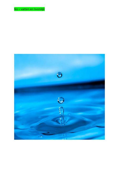 elevmall vattnets kretslopp