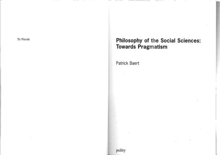Baert - Philosophy of Social Sciences